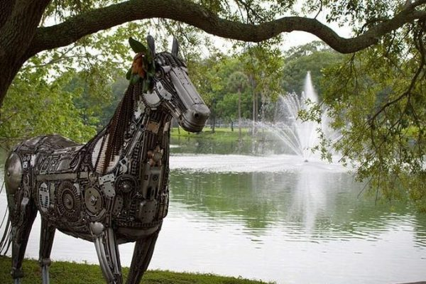 Lake And Horse Statue