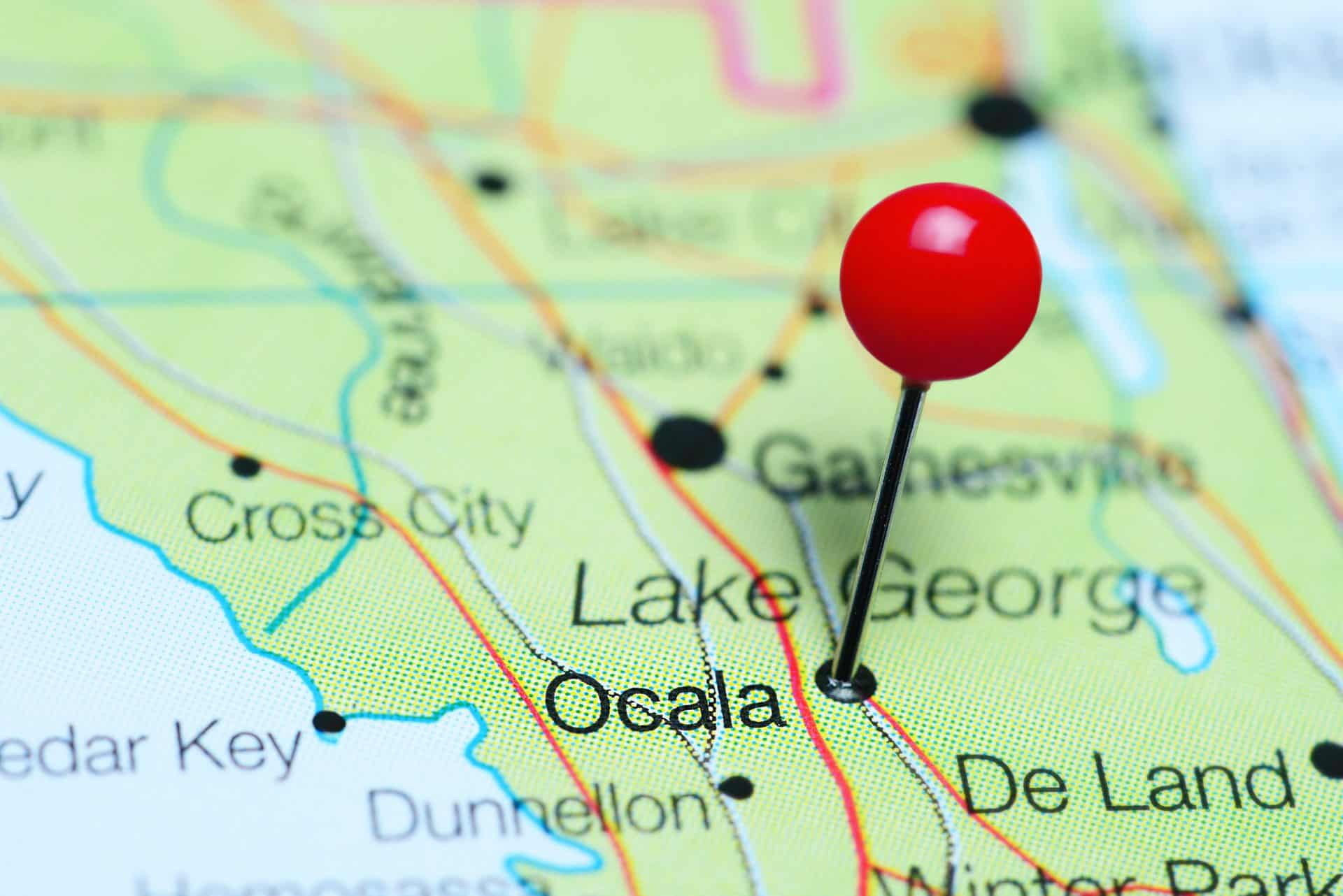 Ocala Pin on Map